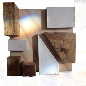 Plaster and wood model