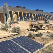 the construction process was powered entirely by solar energy